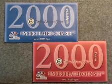 2000 UNITED STATES MINT SET - P&D DOLLARS HALVES QUARTERS DIMES NICKELS & CENTS