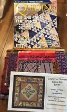 "wall Quilt kit ""Crazy for Flowers Kit"" by Cathy Kucenski/ McCall's Quilting"