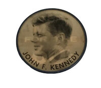 """Vintage John F. Kennedy """"The Man For The 60's"""" Flicker Button"""