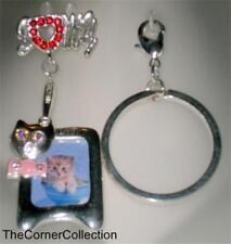 "I ""heart"" My Cat Photo Frame Pin or Keychain"