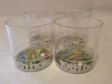 GOLF GIFTS GLASSES VINTAGE ACRYLIC TUMBLERS Set of 4 19th HOLE Game in Bottom