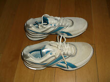 REEBOK EASYTONE WOMENS TRAINERS, COLOR WHITE/BLUE/SILVER, SIZE UK 6, EUR 39