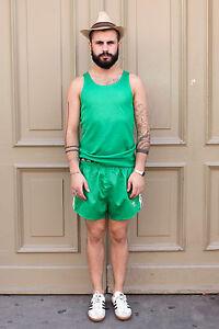 Erima Herren Shirt grün green Muskelshirt 70er Trikot True VINTAGE 80´s men 70´s
