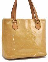 Authentic Louis Vuitton Vernis Houston Shoulder Bag Yellow M91121 LV A7225
