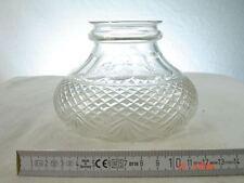 Lampenschirm Glas Kristall geschliffen  Jugendstil  7 cm Aufnahme  Ersatzglas