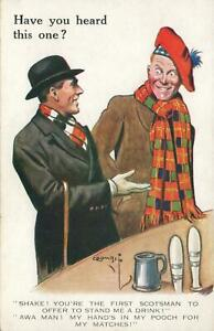 Early 1900s VINTAGE Valentine's Have You Heard This One Stingy Scotsman POSTCARD