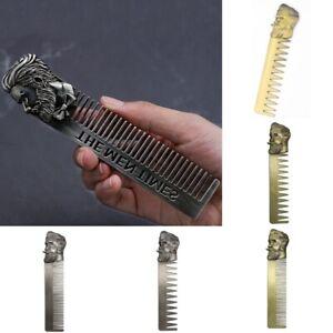 Beard Shaping Brush Stainless Steel Metal Facial Hair Trimmer Carding Tool