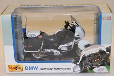 MAISTO 1/18 moto BMW R1100 RT-P OREGON POLICE + boite ,état neuf die cast metal
