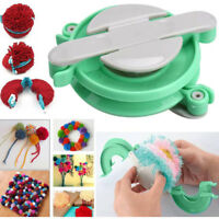 4 Size Pompom Maker Needle Craft Knitting Wool Tool Fluff Ball Bobble Weaver Set