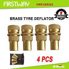 X-BULL Tyre Deflators x4 Brass Air Deflator 6-60 PSI Tire Valve Core Tool 4WD