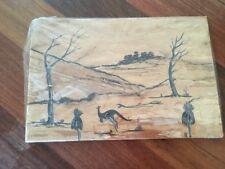 Aboriginal Art Bark Landscape  Vintage 1975 . Never Displayed