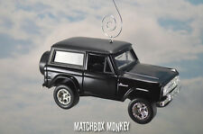 Black '73 Full Size Ford Bronco Christmas Ornament 1/32nd Emblem SUV 4x4 Truck