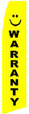 Warranty Car Dealer Auto Lot Swooper Banner Feather Flutter Tall Curved Top Flag