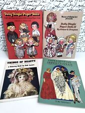 3 Uncut Paper Doll Books and Doll Coloring Book, Dolly Dingle, Princess Diana