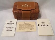 VINTAGE LEATHER HAMILTON ROCKET BOX WATCH CASE w/ ALL PAPERWORK ALL IN MINT COND