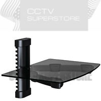 Wall Mounted Floating Glass Shelf for DVD Set X BOX AV TV Components DVR