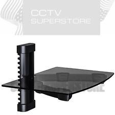 5 x Wall Mounted Floating Glass Shelf for DVD Set X BOX AV TV Components DVR