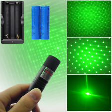 High Power 532nm Green Laser Pointer Pen Lazer With Cap+2*18650Battery+1*Charger