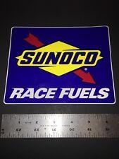 Vintage 1970's GAS & OIL Tool Box Sticker SUNOCO RACE FUEL LOGO USA Garage DECAL