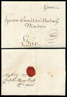 1757, kpl. Auslands-Kaufmannsbrief v. Augsburg nach Chur (Massner-Korrespondenz)