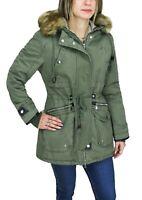 Parka donna Diamond invernale verde casual giacca giubbino con pelliccia interna