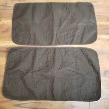 Set Of 2 King Size Pillow Shams Quilted Brown 20x36 New Without Tags