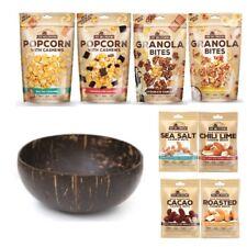 East Bali Cashews Snack-Box Geschenk-Set Cashew-Nüsse Popcorn Kokos-Schüssel