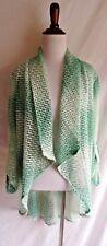NWT Alberto Makali M Crochet Lace Open Knit Boho Draped Cardigan Top Blouse