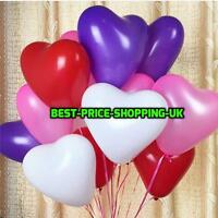 "10"" HEARTSHAPE BALLONS HELIUM OR AIR LATEX BALLOONS BIRTHDAY WEDDING Baloons 10"