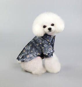 Summer Puppy Grey Boy Dog Shirt Pet Clothes For Small Medium Large Dog