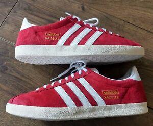Men's Adidas Gazelle Originals Trainers in UK 9 in University Red / White