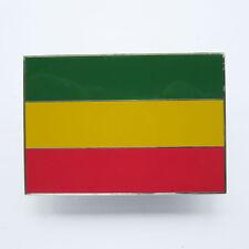 Vintage Rectangle Rasta Flag Pan-Africa Flag Belt Buckle Gurtelschnalle Boucle