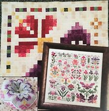Dreaming of Iris Sampler Rosewood Manor Cross Stitch Quilting Pattern