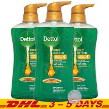 Pack 3 : Dettol Gold Daily Clean Shower Gel Rare Amber, Tea Tree Body Wash 500ml