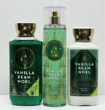 NEW LOT 3 Bath & Body Works Vanilla Bean Noel Shower Gel+Lotion+Fragrance Mist
