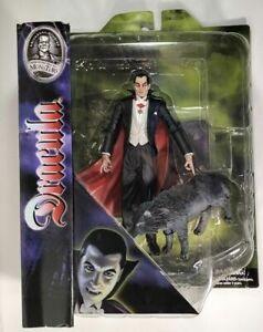 Diamond Select Dracula With Wolf Figure Universal Monsters Bela Lugosi MISP