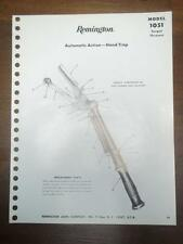 Original Remington Parts List~ 1051 Automatic Action-Hand Trap~Target Thrower
