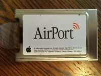 Vintage Apple AirPort Card 825-4593-A PCMCIA for Apple Macintosh Laptop Computer