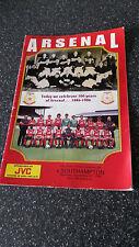 Football program - Arsenal v Southampton Dec 27 1986