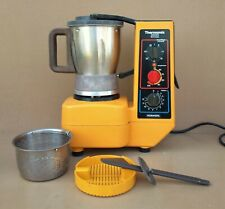 VORWERK THERMOMIX 3000 ORANGE vintage chauffe mixe robot cuisine MARCHE => vidéo