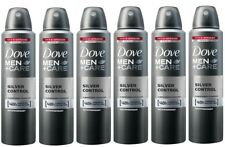 6 Dove Men Antiperspirant Deodorant Spray Silver Control 150 ml each