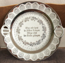 Plate Porcelain Nouveau Antique Silver Wedding Breakthrough Henkel P.K.Silesia