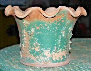 Evans Stoneware Pottery Dexter Missouri Vintage Textured Planter Flower Pot