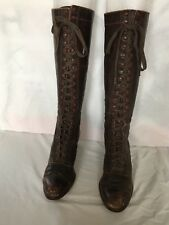 Vintage Women's Leather Knee High Boots