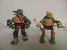 2 2012 teenage mutant ninja turtles action figures lot Leo and Mikey Leonardo