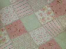 Lila Throw Rug shabby Chic Vintage Florals Quilted Patchwork  Linens n Things