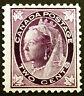 Canada #68 2c Purple 1897 Queen Victoria Maple Leaf VF *MLH*
