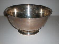 "Vtg Old 925 Gorham 10.5"" Sterling Silver 41661 P Revere Reproduction Bowl 37.5oz"