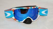 Maschera Oakley O2 Mx Orange Blue / Ice Iridium & Clear oo7068-05 Cross Enduro