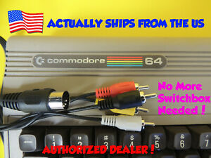 Composite Video & Audio TV DIN Cable for Commodore 64 C64 C-64